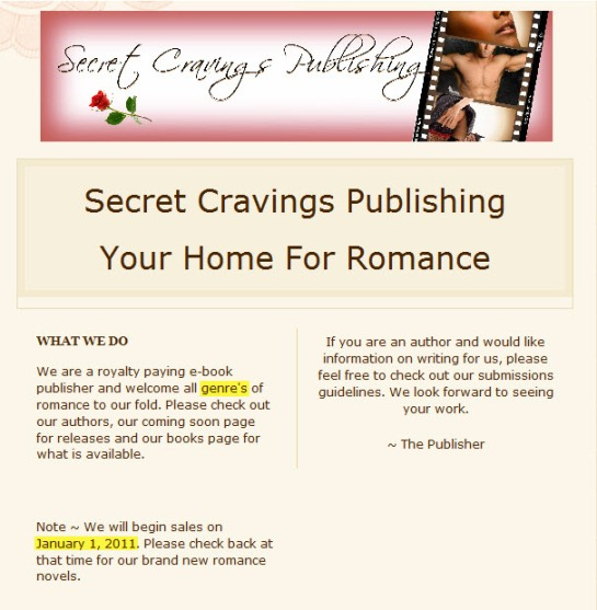 Secret Cravings Publishing - Homepage