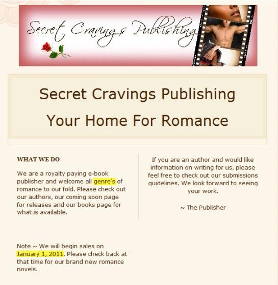 Secret Cravings Publishing - Homepage