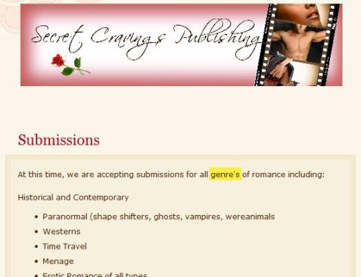 Secret Cravings Publishing - Submissions