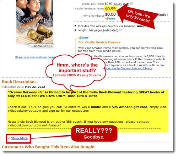Hidden book description