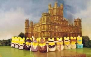 Downton Abbey marshmallow peeps