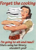 Forget the cooking - I'm going to sit and read!
