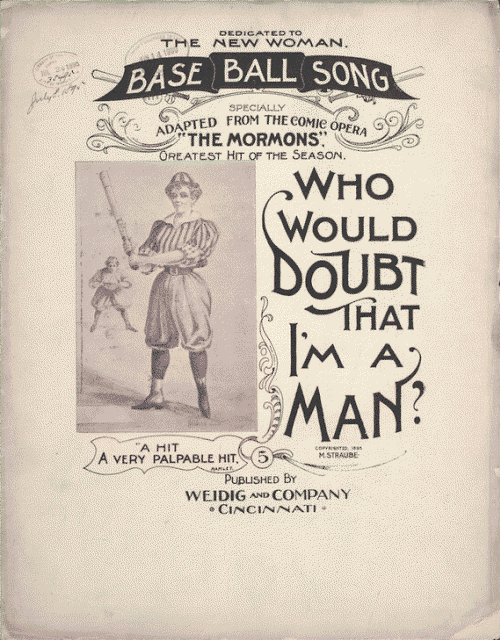 Who Would Doubt That I'm A Man - Vintage Baseball Sheet Music