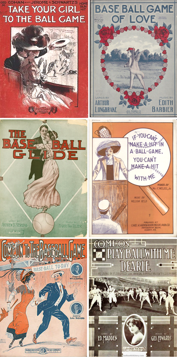 Vintage Romantic Baseball Sheet Music