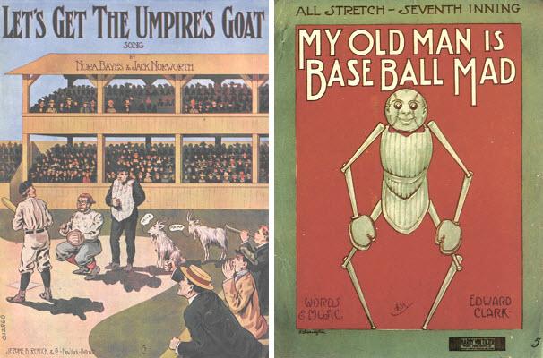 WTF vintage baseball sheet music