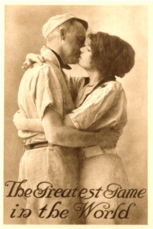 "Vintage baseball postcard - ""The Greatest Game in the World"""