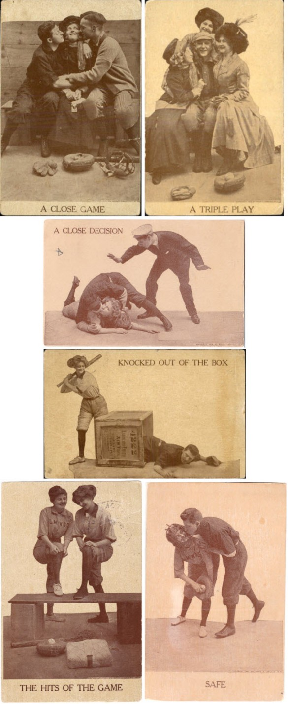 Vintage baseball postcards - copyright 1910, Rot & Langley N.Y.