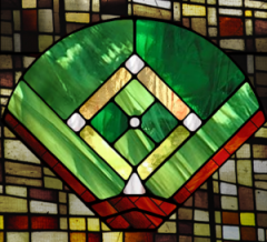 Stained Glass Baseball Field