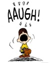 Charlie Brown on pitcher's mound - AAUGH!