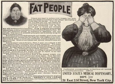 "Vintage ""Fat People"" ad"