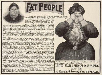 """Vintage """"Fat People"""" ad"""