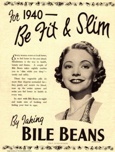 Bile Beans: For 1940 - Be Fit & Slim