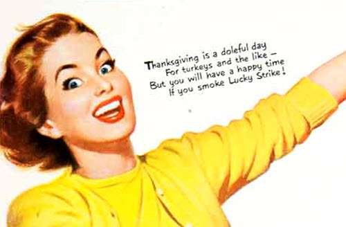 1950 Lucky Strike Thanksgiving Ad - detail