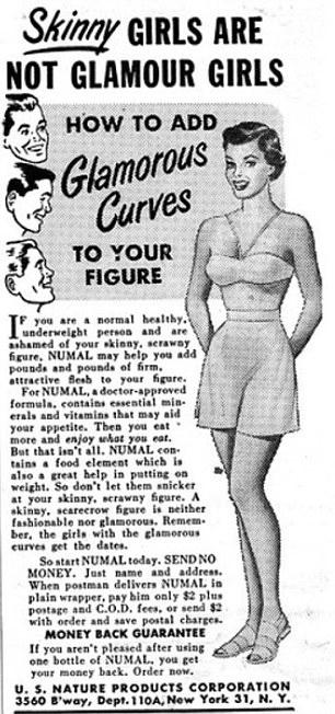 Skinny Girls are not GLAMOUR GIRLS