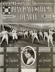 Come Play Ball With Me Dearie vintage sheet music