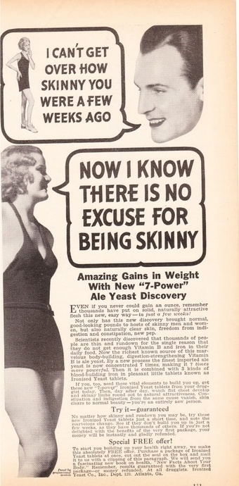 There's no excuse for being skinny