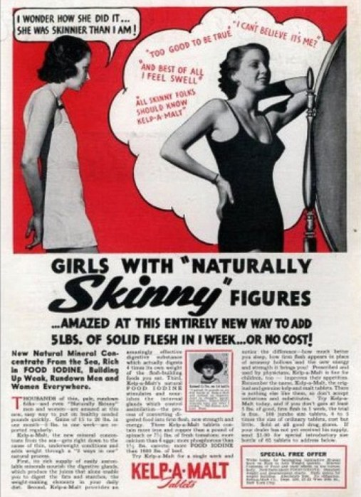 Girls with naturally SKINNY figures can gain solid flesh