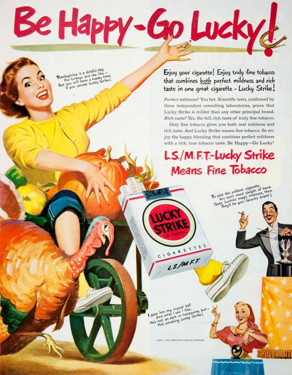 1950 Lucky Strike Thanksgiving Ad