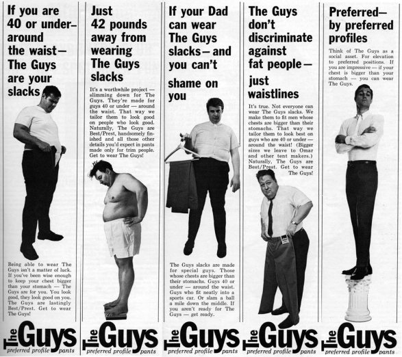 The Guys Slacks - No Fatties Allowed