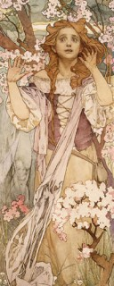Maude Adams (1872–1953) as Joan of Arc by Alfons Mucha