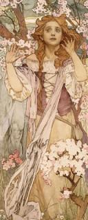 Maude Adams (1872–1953) as Joan of Arc by Alfons Mucha