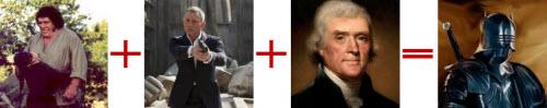 Fezzik + Bond + Jefferson = Sir Sean de Lara