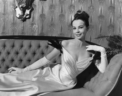 Leslie Caron in Gigi, costume by Cecil Beaton