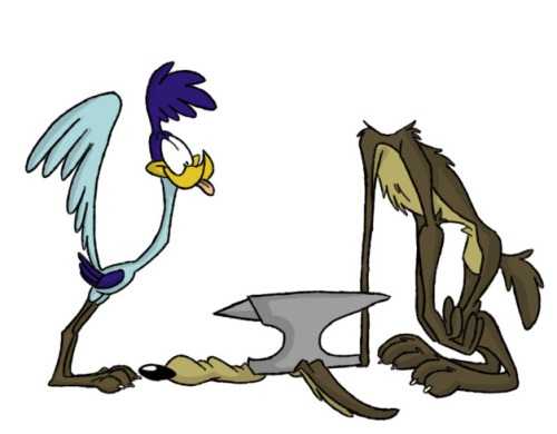 Looney Anvil Dropping, featuring Road Runner and Wile E. Coyote