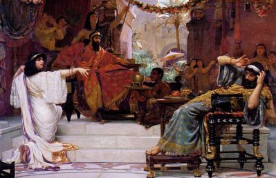 Esther Denouncing Haman - Ernest Norman, 1886